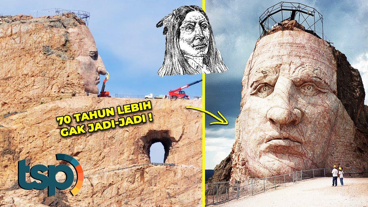 Diukir Pada Sebuah Gunung, Begini Penampakan Patung Pahlawan Perang Suku Asli Amerika
