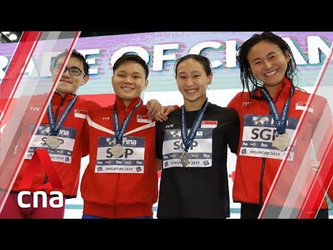 Singapore's mixed relay team wins silver at FINA World Cup Singapore