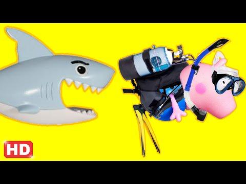 PIG GEORGE E PEPPA PIG EM UM PASSEIO NO SUBMARINO IMAGINEXT DO PINGUIM NO FUNDO DO MAR! EM PORTUGUES