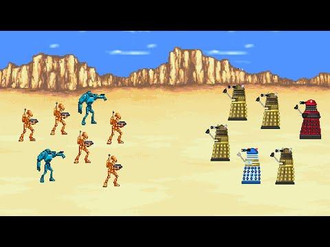 Daleks VS Battle Droids.  Star Wars VS Doctor Who