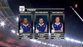 La composition des équipes (France- Afrique du Sud) (HD)