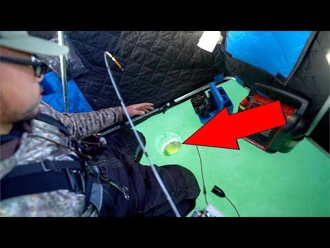 SURPRISING Catch While Ice Fishing!!!!