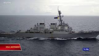 Tàu chiến Mỹ tiến gần quần đảo Trường Sa (VOA)