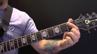 Here's a guitar lesson on how to play Roots Bloods Roots by Sepultu...