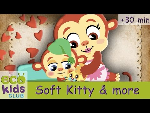 Soft Kitty, Warm Kitty + more from EcoKids Club  Children Nursery Rhyme  Kids Songs