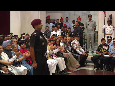 PRESIDENT OF INDIA PRESENTS GALLANTRY AWARDS - 20-03-2017