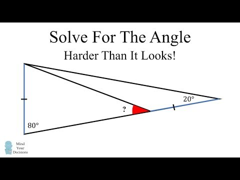 How To Solve For The Angle - Viral Math Challenge