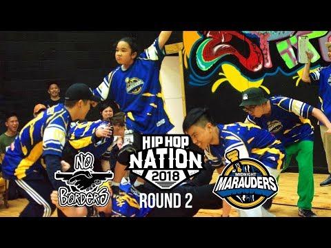 No Borders vs Midnight Marauders | ROUND 2 | HIP HOP NATION 2018