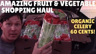 Fruit and Vegetable Grocery Haul - How I Buy Organic Celery for 60 Cents