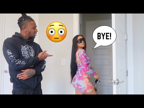 Wearing A Hot Outfit Then Leaving Him! *Cute Reaction*