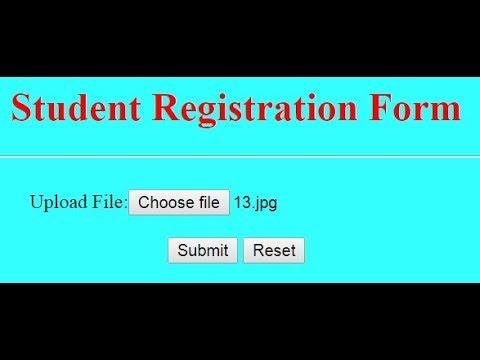 24. File upload field in html