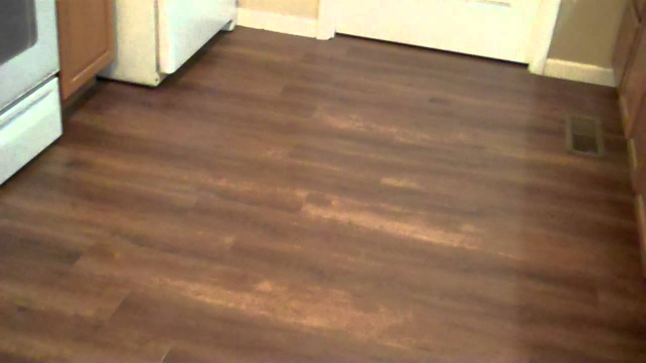 New laminate flooring in kitchen