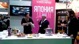 Шеф-повар MISATO Мунечика Бан на Продэкспо-2011 (07.02.2011)