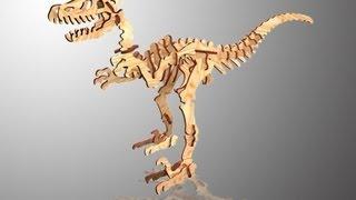 Chico Craft Velociraptor Wooden 3d Puzzle
