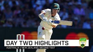 Cummins, Pattinson strike to put Aussies on top | Second Domain Test v New Zealand
