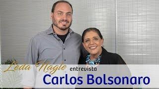 CARLOS BOLSONARO : O PIT BUL NÃO MORDE. | LEDA NAGLE