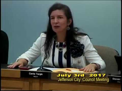 Jefferson City Council meeting 9 am July 3rd  2017