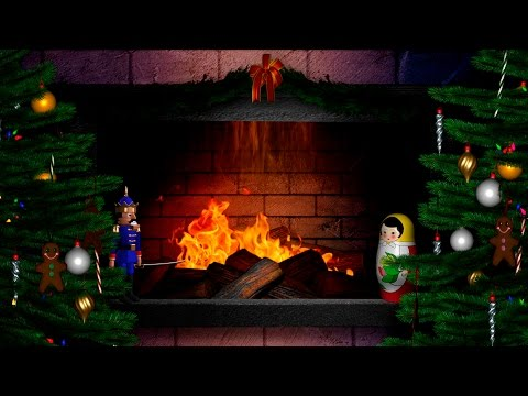 Silent Night ❄ Fireplace HD ❄ Christmas Carols for children - Christmas Songs