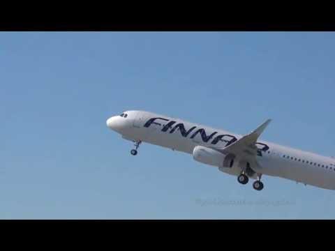 Delivery Flight | First A321 Sharklets | Finnair Waving Goodbye @ Hamburg Finkenwerder