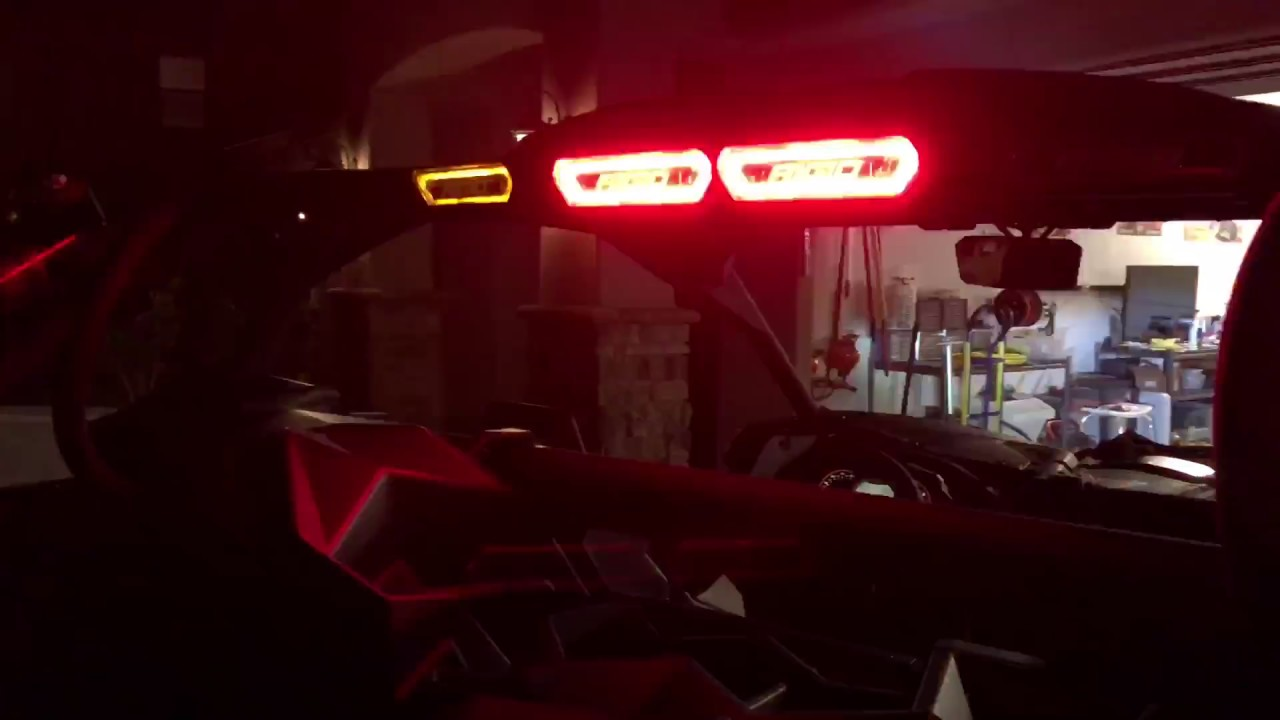 Rigid Chase Lights On Can Am X3 Xrs Youtube