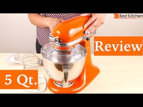 kitchenaid artisan series 5 quart stand mixer review youtube