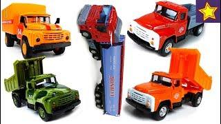 Машинки Грузовые Сборник лучших серий с историями Cars Toys for kids