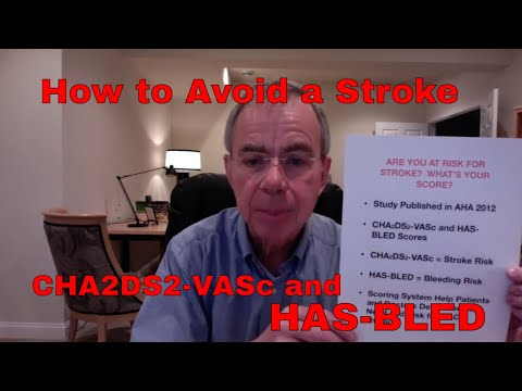 How to Avoid a Stroke! Atrial Fib  - CHA2DS2-VASc and HAS-BLED Scores