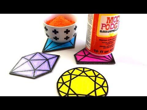 {DIY} Waterproof Cardboard Coasters
