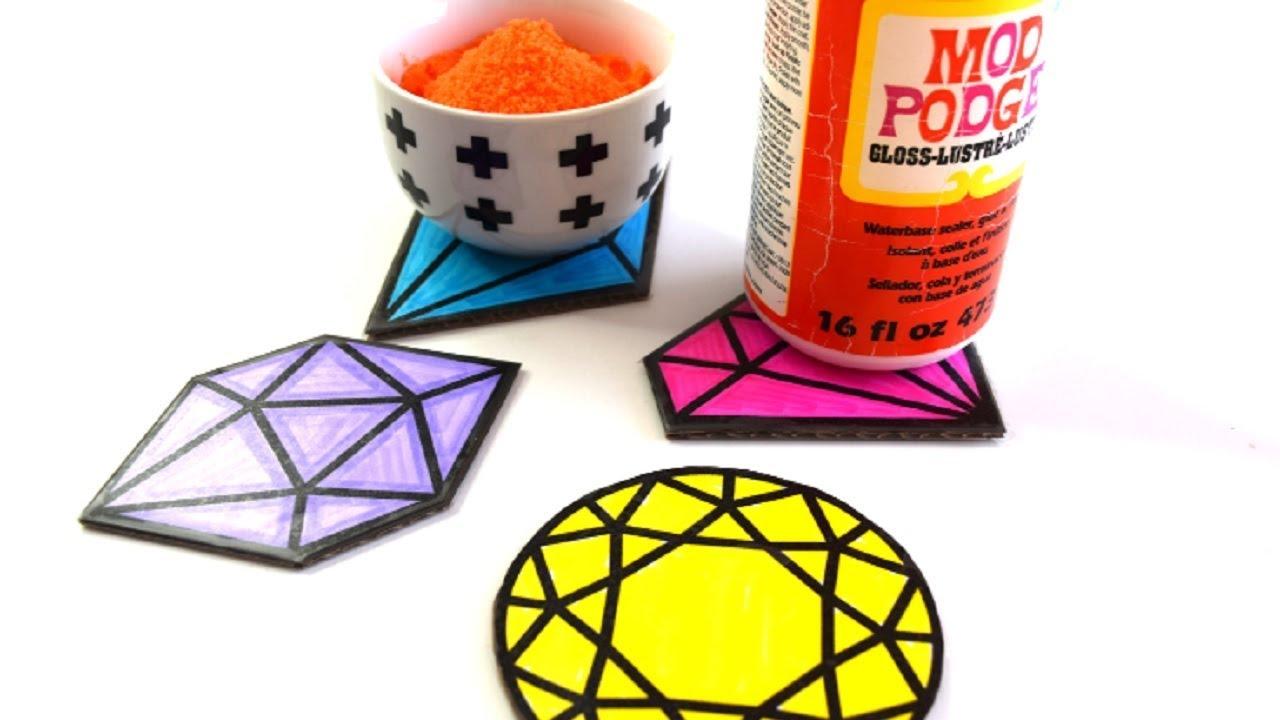 Diy Waterproof Cardboard Coasters Youtube