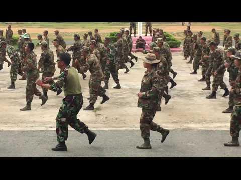 ឡូយជាងVideo មុនWow awesome Cambodia Army BHQ Training Dancing is krang jek Happy. W2017