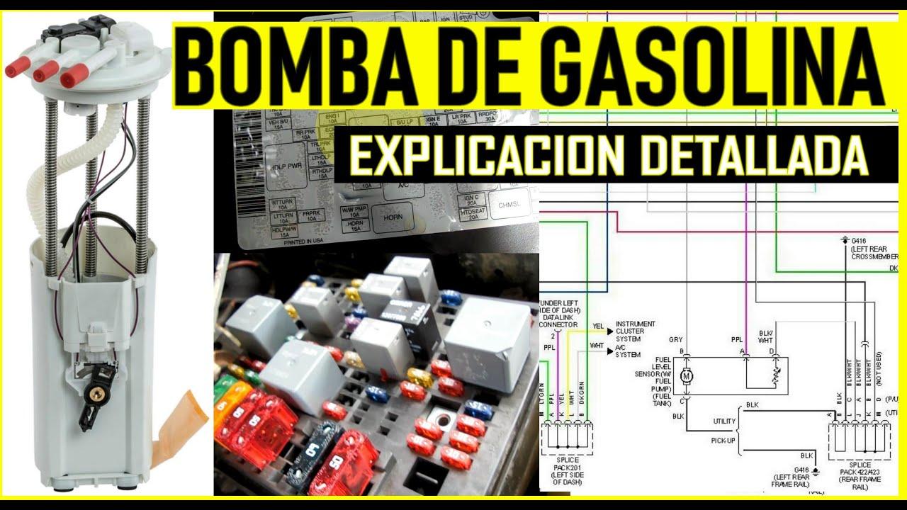 Circuito electrico de la bomba de gasolina explicado en ...