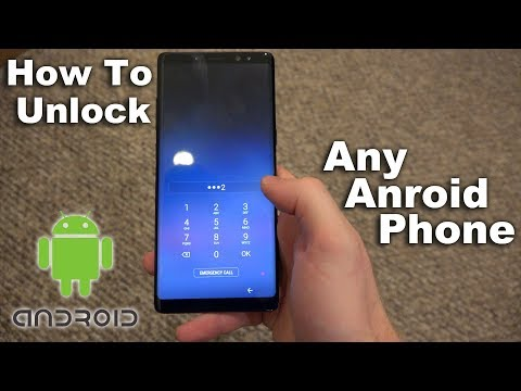 How To Unlock Android From Password/Passcode Tutorial!