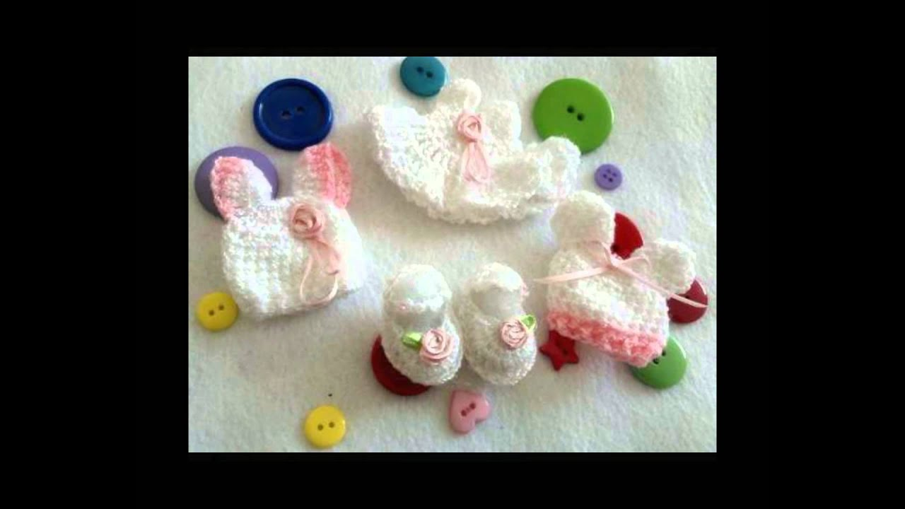 recordatorios de baby shower bautizo tejidos a crochet youtube