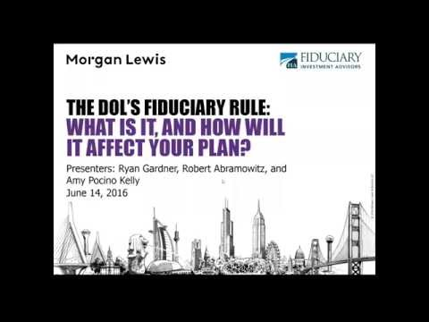 DOL Fiduciary Rule Webinar