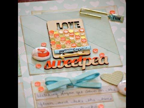 Free Flow Wednesday- Sweetpea ( The Crafty Maven Getaway)