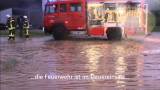 Hochwasser Schwäbische Alb Erpfingen Nacht 1 Juni 2013