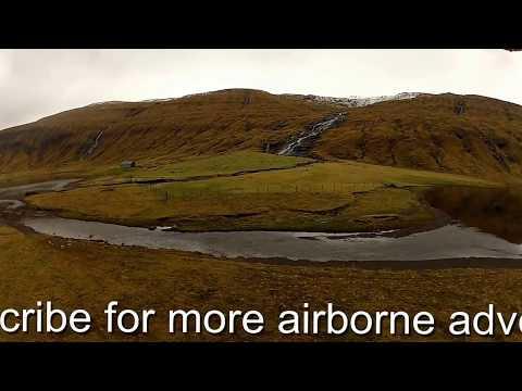 Art of flying relaxing DJI Phantom UFO over the lonely island ( Faroe Islands ) 006