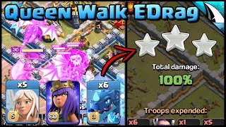 *Using EDrags* Queen Walk Mass Electric Dragons | Clash of Clans