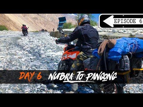 #Day6 | Nubra To Pangong || 3 idiots Point | KTM DUKE 250 | Mission Ladakh | Kimesh & Jyoti