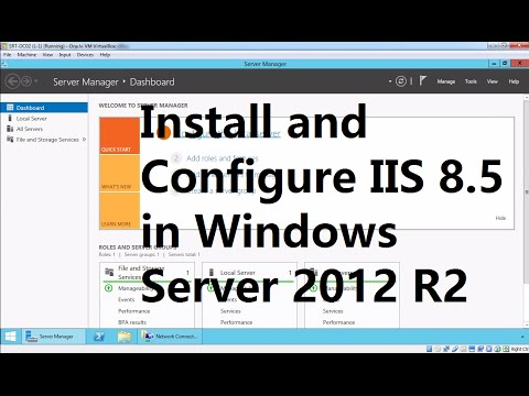 How to Install Web Service IIS 8.5 on Windows Server 2012 R2