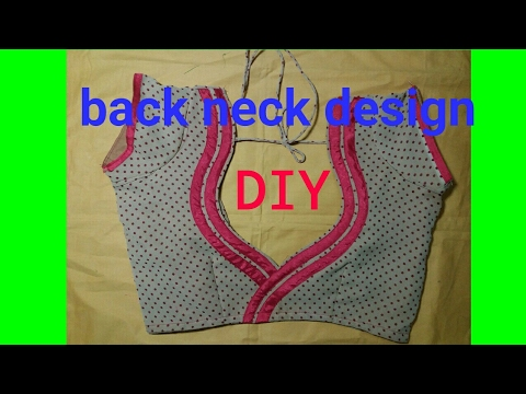 make back neck design with any colourful clothes