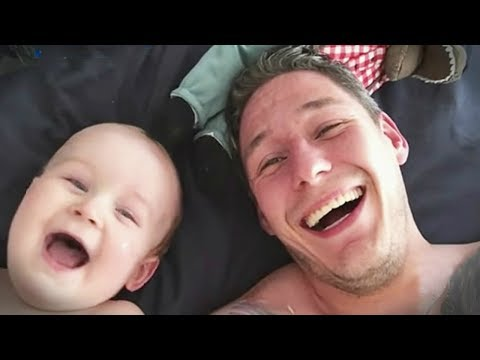 Funny Babies Laughing Hysterically At Dads Compilation || CUTE