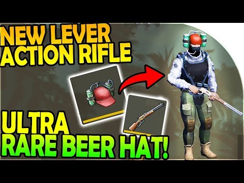 NEW BEER HAT + WINCHESTER LEVER ACTION RIFLE! (*ULTRA RARE*) - Last Day on Earth Jurassic Survival