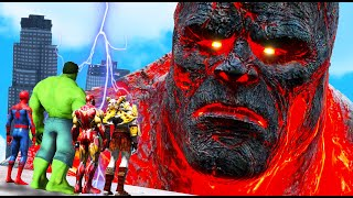GTA 5 - Avengers FOUND Biggest Titans - Kratos VS Perses