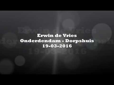 Erwin de Vries, Onder den Dam dorpshuis 2016 13 songs