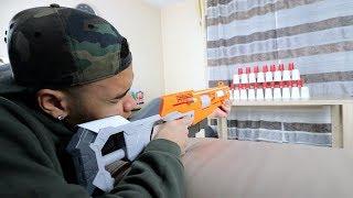NERF GUN CHALLENGE !!! | PrankBrosTV