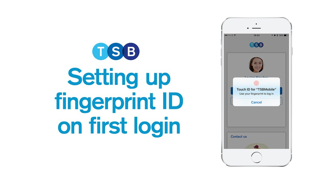 How to set up fingerprint when you first log in | Mobile App Guide | TSB  Bank