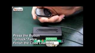 code learning for door controller garage controller and gate controller