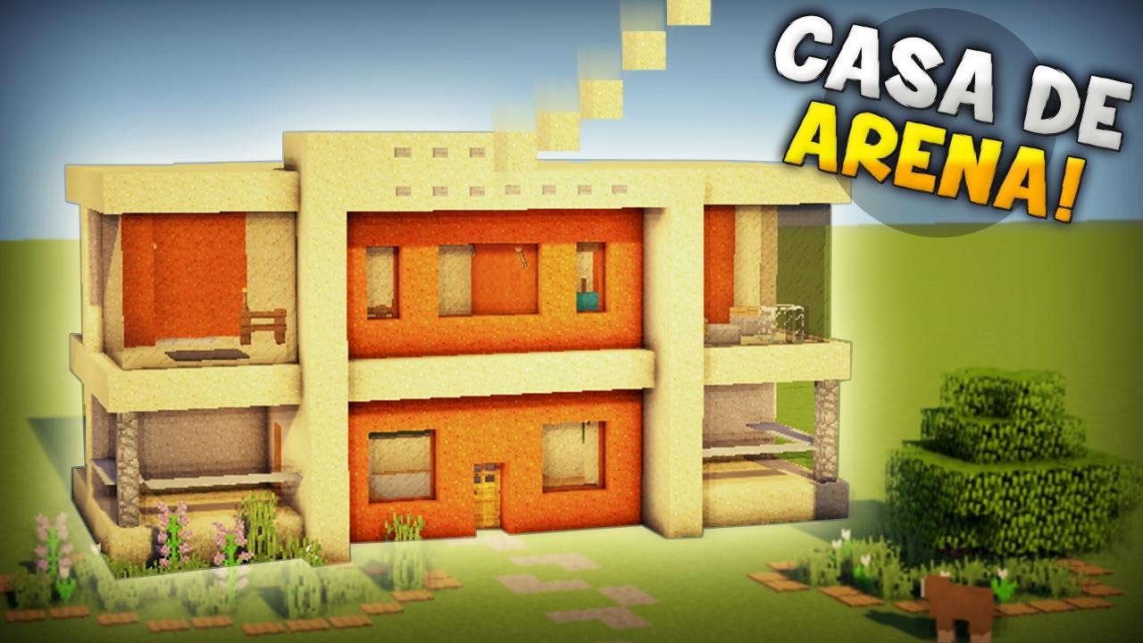 minecraft como hacer una hermosa casa moderna de arena