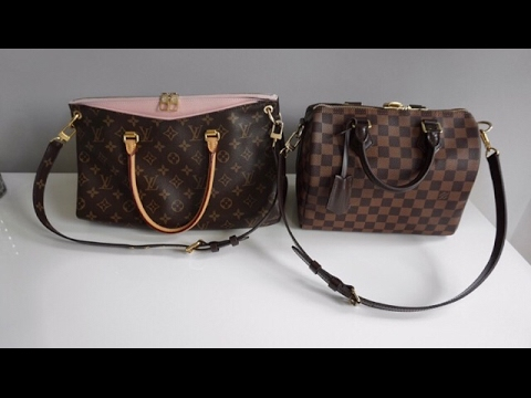 Louis Vuitton Pallas, Whats in my bag, wear and tear and comparison to Speedy B 25!